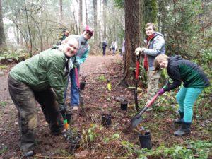 Volunteers at a Friends of Trees planting in Gresham's Nadaka Park